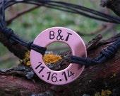 Washer Bracelet, Anniversary Gifts For Boyfriend, Anniversary Gifts For Men, Personalized Initials Bracelet