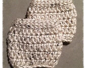 Crochet Boot Cuffs, Crochet, Boot Cuffs, Chunky Boot Cuffs, Oatmeal,