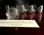 Scotch Glasses | Whiskey Glasses | Custom Engraved | Scottish Clan | Campbell Clan | for Grandfathers, Fathers, Brothers and Husbands