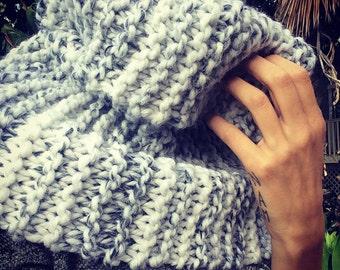 Chunky Hand Knit Infinity Scarf Cowl Shrug