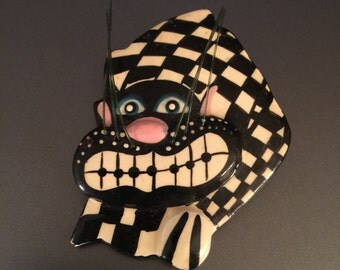 Cheshire Cat Brooch, Vintage