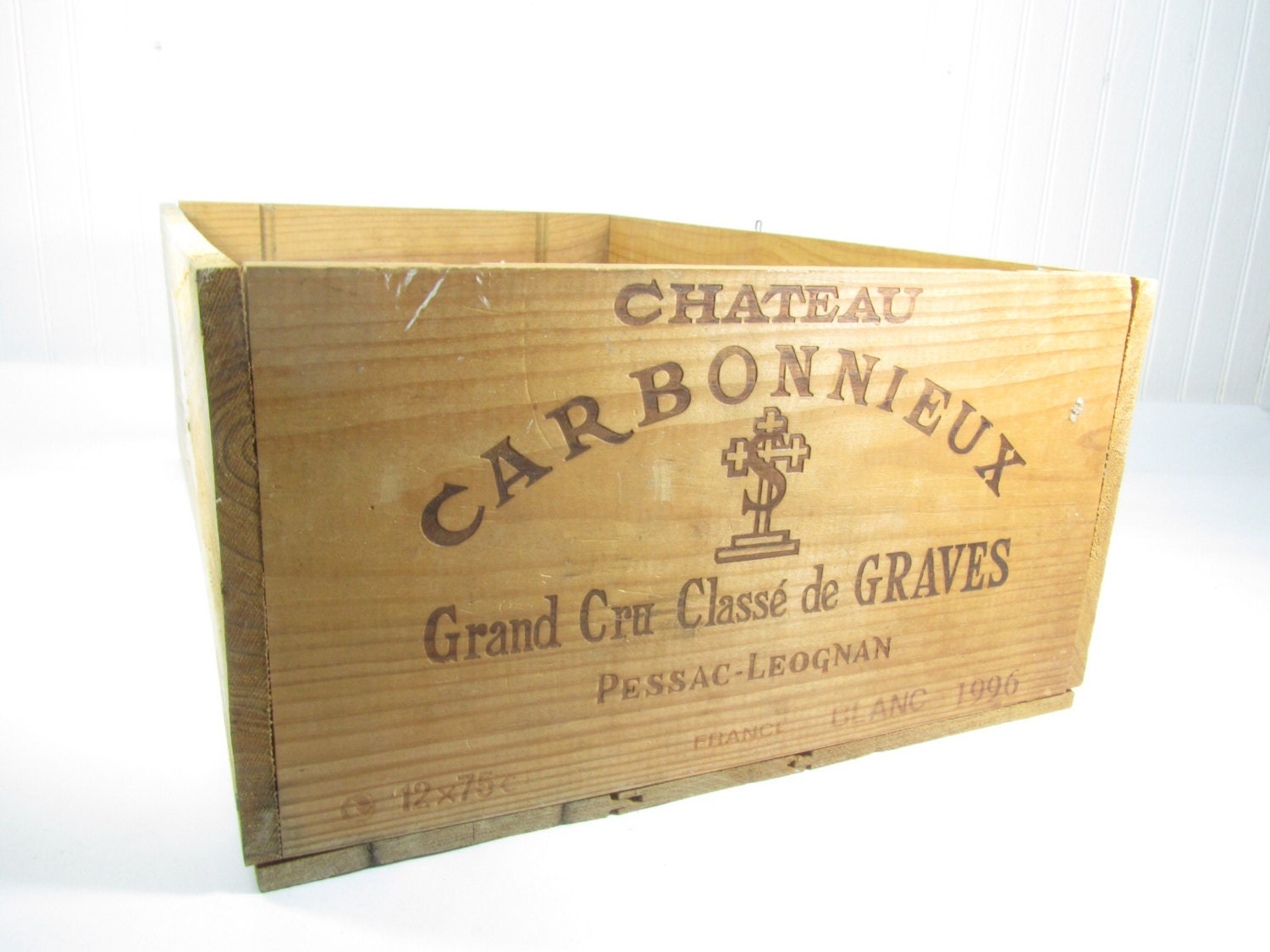 Vintage wood box wine box wood crate vintage box storage for Timber wine box