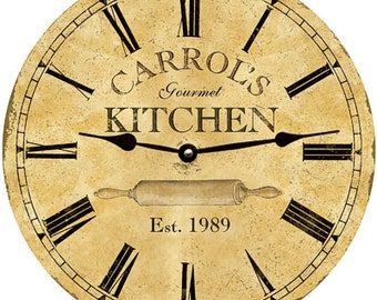 Kitchen Clock- Personalized Kitchen Clock