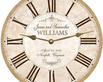 Wedding clocks Etsy