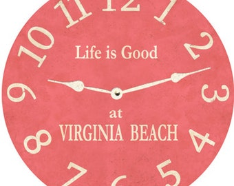 Pink Clock- Personalized Pink Clock
