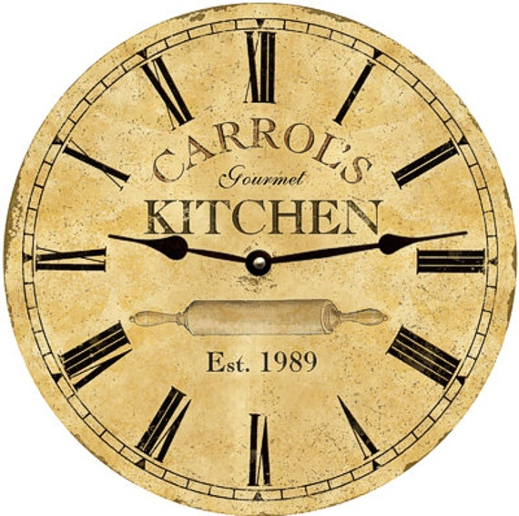 Kitchen Clock Personalized Kitchen Clock