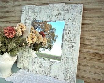 French Country Mirror / Country Farmhouse Decor / Large Handmade Wall Mirror / Beach House Mirror / Wall Decoration / Farmhouse Mirror