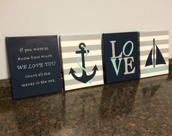 Nautical Nursery Wall Decor nautical nursery wall decor baby boy girl nautical 8x10