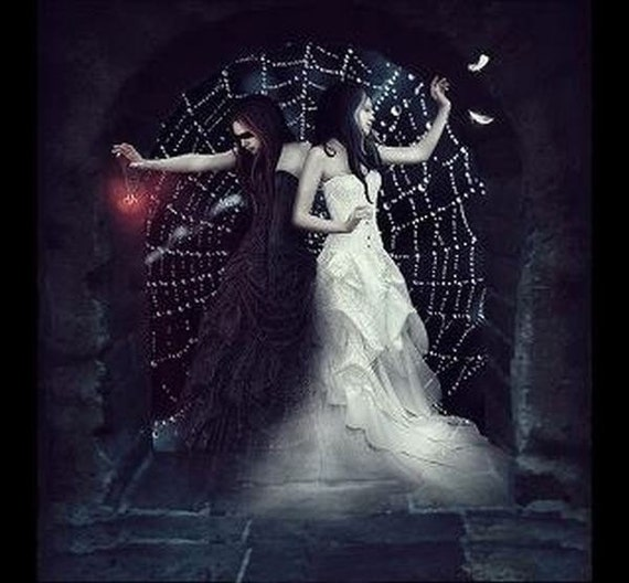 Light And Dark Witch Sisters Haunted Wonderful European
