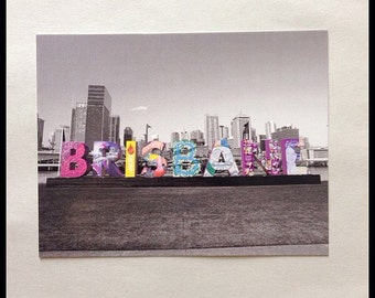 Brisbane Australia Photograph Postcard