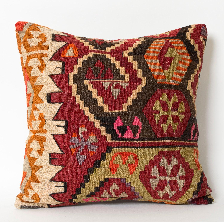 Turkish Throw Pillow Covers : kilim pillow kilim pillow 16x16 pillow cover turkish by pillowme
