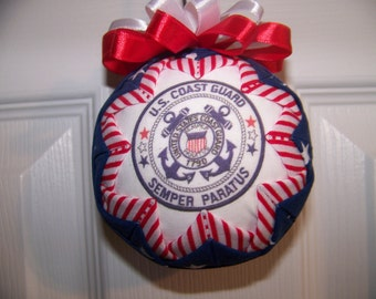 U.S Coast Guards Quilted Ornament/Patriotic/Coast Guards/Military Quilted Ornament