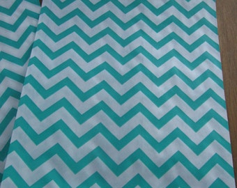 5 x 7 Teal and White Chevron Gift Bags--Set of 25 Party Favor Bags--Treat Bags--Decorative Paper Bags--Wedding Favor Bags