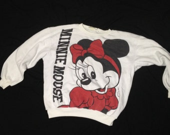 Vintage Minnie Mouse White Sweater