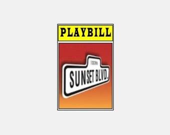 Theater / Show Charm - Playbill  - SUNSET BLVD.