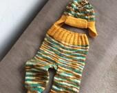 Small Longies Hand Knit MMA Merino  Lollytree Yarn