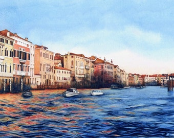 """Venice Grand Canal sunset print 