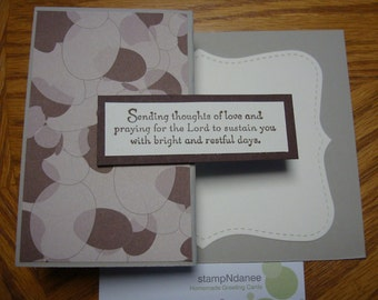 Stampin up Prayers and thoughts