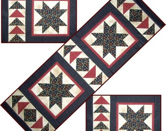 1402 - A Star for Kelly! Table Runner and Placemat Pattern
