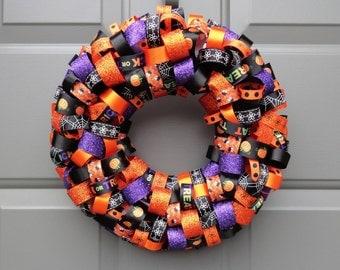 Halloween Ribbon 12' Wreath