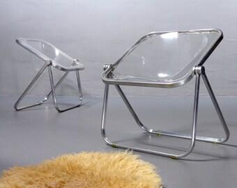 Giancarlo Piretti, Klapptisch Platone für Anonima Castelli 1967 schwarz Vintage Folding Table Mid Century Modern