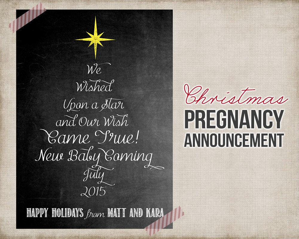 Christmas Pregnancy Announcement Printable Card Sign