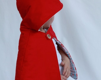 Li'l Red Cape Hooded Capelet size 3 Circus