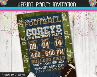 Football Party - Football Party Invitation - Tailgate Party