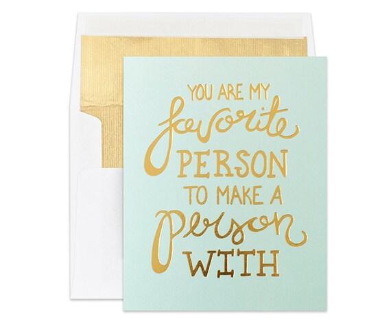 Gold Foil Card | Pregnancy Announcement Card | Favorite Person