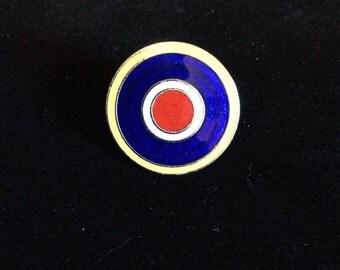 Vintage English Mod Target Pin