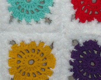 snow cover boy with colorful squares (80 cm/60 cm)