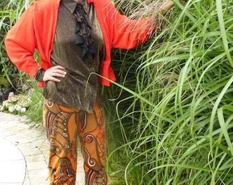 Orange jacket with sabet