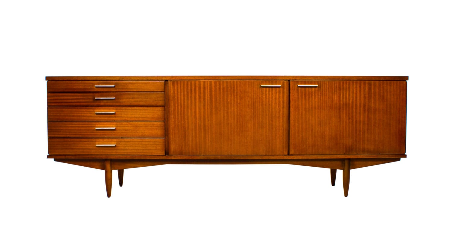 Stunning 7ft Mid Century Credenza Media Console or Drinks Cabinet by ...