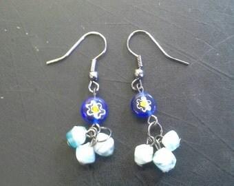 Light Blue Spring Earrings