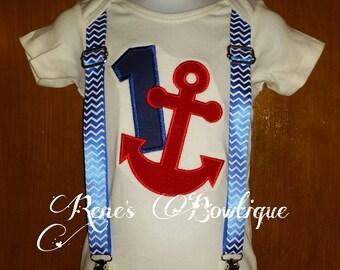 Anchor Suspender TShirt