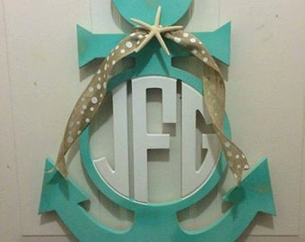Nautical lawn decor etsy for Anchor door decoration