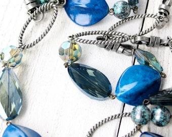 Mediterranean Blue Opera Length Necklace