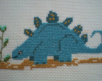 Stomp the Stegosaurus Dinosaur counted cross stitch  kit