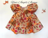 Baby Girls Thanksgiving Fall Birthday Fox Twirly Peasant Dress Autumn Pictures Little Sister