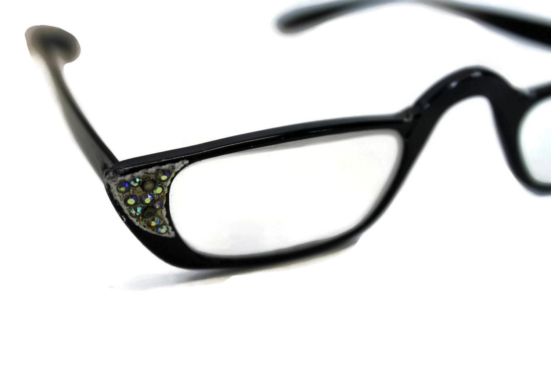 vintage 50s cat eyeglasses reading glasses 60s cat
