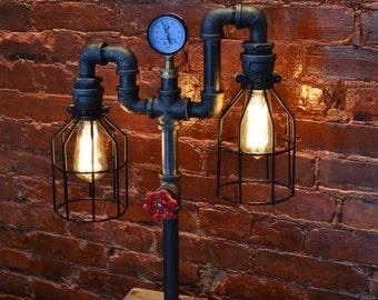Industrial Pipe Lamp - Pipe Light - Table Lamp - Lamp - Steampunk - Desk Lamp - Table Light - Childrens Light - night light -Kids Light