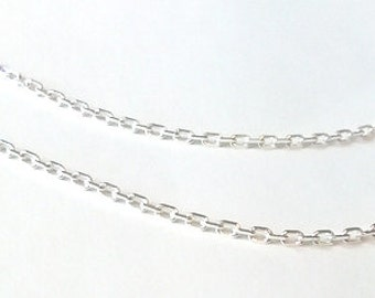 Double Sterling Silver Chain  delicate Trace - diamond cut.