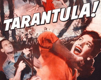 "Reprint of a Vintage Horror Movie Poster - ""Tarantula"""