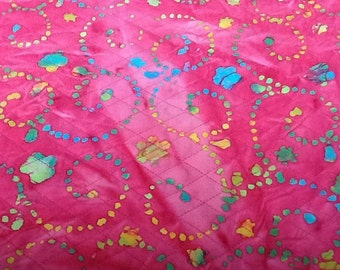 1 1/8 yard of pink quilted material
