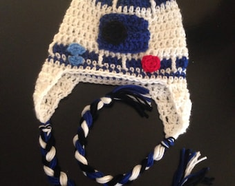 Star Wars R2D2 inspired crochet hat