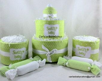 Baby Shower Decorations | Baby Diaper Cake |,Baby Stork Bundle | Baby Shower gift | Diaper cake centerpiece | New baby gift | New mom gift