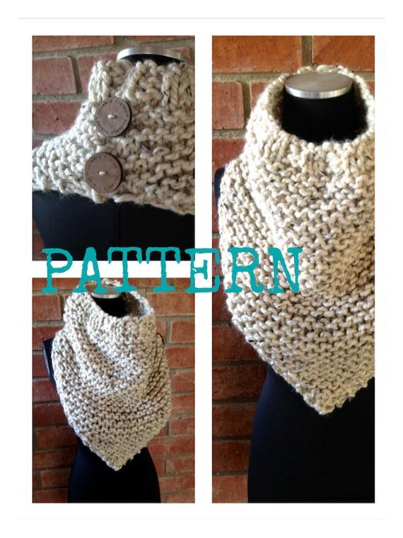 Bandana Cowl Knitting Pattern : Cowl on Pointe Knit PATTERN ONLY Bandana Style Cowl