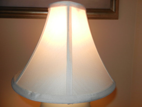 Bell Shape Lined Lamp Shades Cream Color By