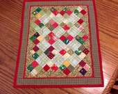 Hand Quilted Miniature Quilt Table Topper