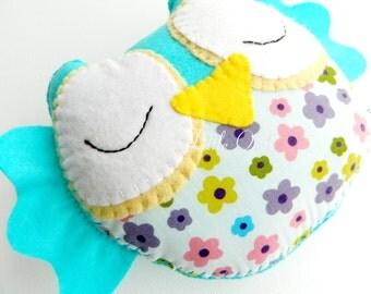 Sweet Sleepy Little Owl Felt Home Decoration / Toy